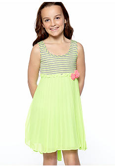 Bonnie Jean Neon Hi Low Dress Girls 7-16