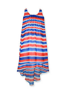Bonnie Jean Chiffon High Low Dress Girls 7-16