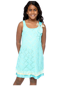 Bonnie Jean Lace U-Neck Dress Girls Plus