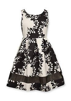 Bonnie Jean Twill Print Dress Girls 4-6x