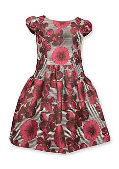 Bonnie Jean Floral Brocade Dress Girls 4-6x