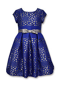 Bonnie Jean Floral Cutout Scuba Dress Girls 4-6x
