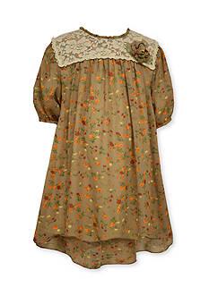 Bonnie Jean Chffon Floral Dress Girls 4-6x