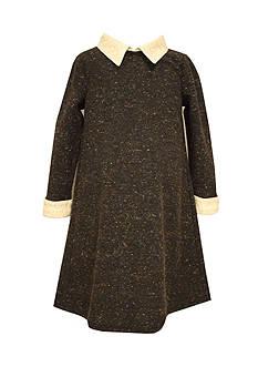 Bonnie Jean Collar and Cuff Shift Dress Girls 4-6X