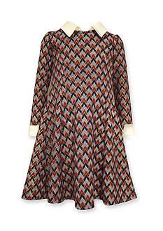 Bonnie Jean Printed Princess Shift Dress Girls 4-6x
