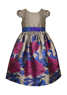 Bonnie Jean Floral Jacquard Dress Girls 7-16