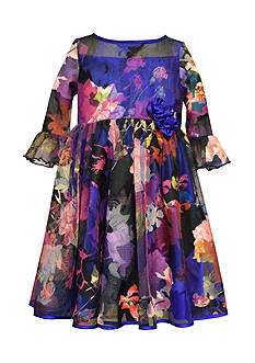 Bonnie Jean Multi Floral Burnout Dress Girls 7-16