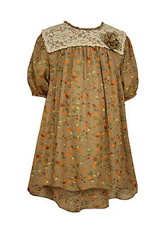Bonnie Jean Floral Chiffon Lace Dress Girls 7-16