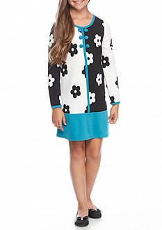 Bonnie Jean Geo Floral Color Border Dress Girls 7-16