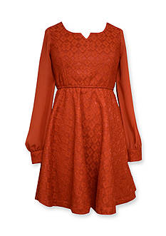 Bonnie Jean Lace Skater Dress Girls 7-16
