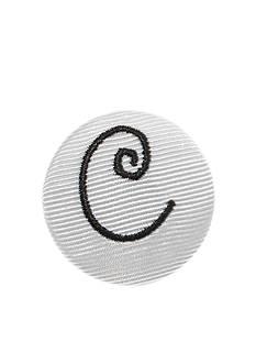Riviera Monogram Solid Hair Button