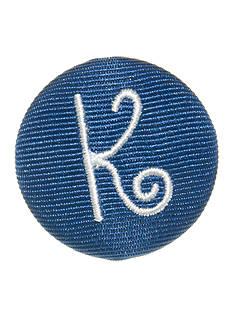 Riviera Round Shaped Monogram 'K' Pinnable