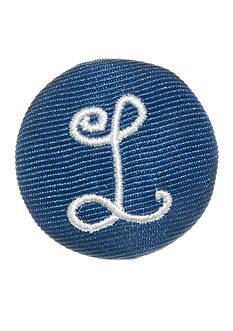 Riviera Round Shaped Monogram 'L' Pinnable