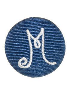 Riviera Round Shaped Monogram 'M' Pinnable