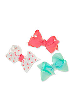 Riviera 3-Pack Grosgrain Solid and Dot Bow Set