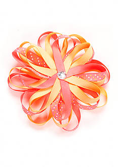Riviera 2 Ribbon Loopy Flower with Jewel Bow