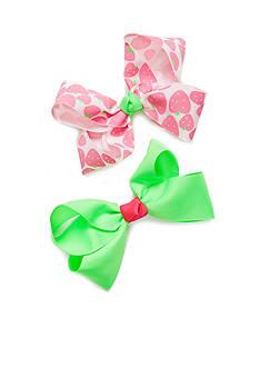 Riviera Strawberry Print Bow Set