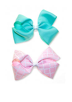 Riviera 2-Pack Quatrefoil and Solid Bow Set