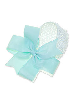 Riviera Sheen Grosgrain Bow Crochet Headwrap