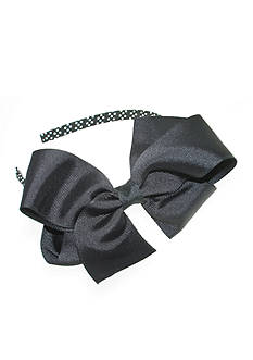 Riviera Grosgrain Bow with Dot Headband