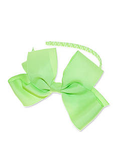 Riviera Lime Grosgrain Bow with Dot Headband