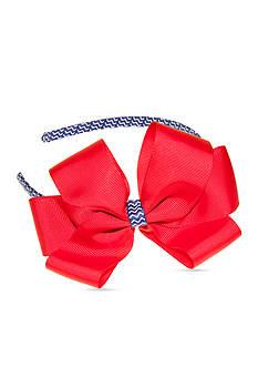 Riviera Solid Bow on Zig-Zag Headband