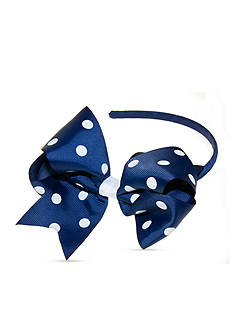 Riviera Basic Grosgrain Polka Dot Bow Headband
