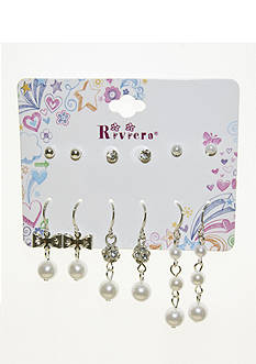 Riviera 6-Pack Pearl, Stud, and Dangling Earring Set