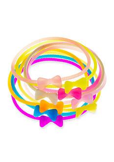 Riviera 9-Pack Bow Rubber Bracelet Set