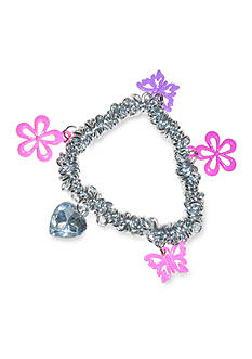 Riviera Flower and Butterfly Charm Bracelet