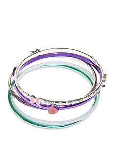 Riviera Heart and Bow Bangle Set