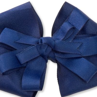 Little Girl Hair Accessories: Navy/White Riviera Medium Bows Girls