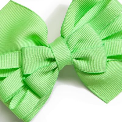 Little Girl Hair Accessories: Bright Multi Riviera Medium Bows Girls