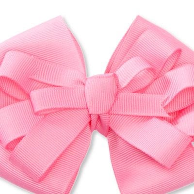 Little Girl Hair Accessories: Pink/White Riviera Medium Bows Girls