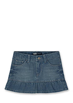 Levi's Alessandra Ruffled Denim Scooter Girls 4-6x
