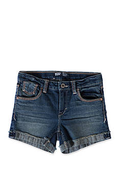 Levi's Mission Thick Stitch Shorty Shorts Girls 4-6x
