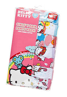 Hello Kitty by Sanrio 7-Pack Hello Kitty Panty Girls 4-8