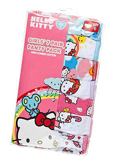 Hello Kitty 7-Pack Assorted Panties Girls 4-8
