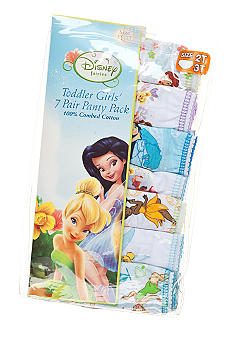 Disney Faries 7-Pack Tinkerbell Panty Girls 4-8