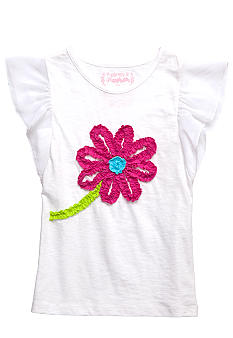 Flapdoodles Flutter Sleeve Top Girls 4-6X