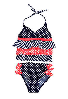 Flapdoodles Nautical Fun Two-piece Swimsuit Girls 4-6X