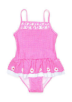 Flapdoodles 2-Piece Daisy Gingham Tankini Girls 4-6x