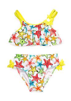 Flapdoodles 2-Piece Starfish Bikini Girls 4-6x