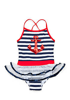 Flapdoodles 2-Piece Nautical Tankini and Bottoms Girls 4-6x