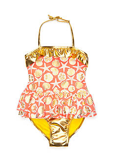 Flapdoodles 2-Piece Sea Charm Tankini Girls 4-6X