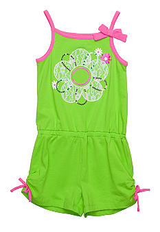 Flapdoodles Flower Romper Girls 4-6X