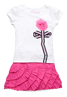 Flapdoodles Preppy Chic Skort Set Girls 4-6X