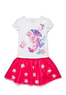 Flapdoodles 2-Piece Shimmering Flora Scooter Set Girls 4-6x