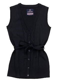 Izod Cable Sweater Vest Girls 7-16