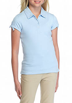 IZOD Uniform Polo with Bow Girls 7-16